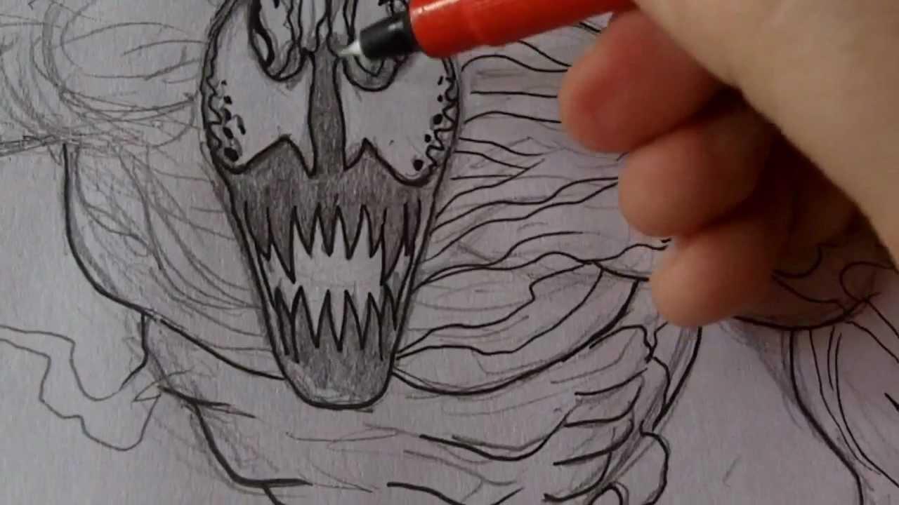 Drawing Carnage Inking