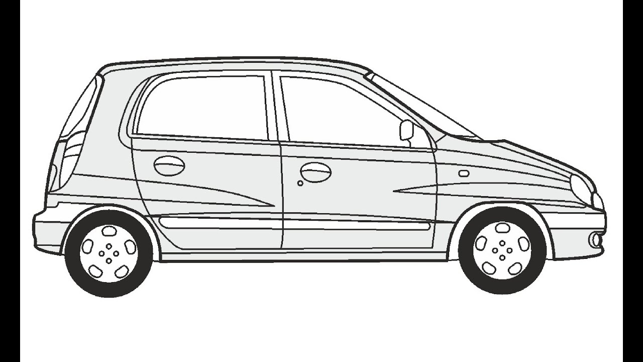 How to Draw a Hyundai Atos Prime / Как нарисовать Hyundai
