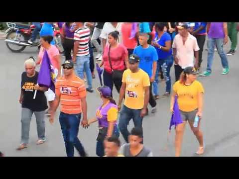 Marcha Multitudinaria del PLD en Gaspar Hernandez