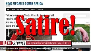 """Floyd Shivambu Did NOT Say """"When we rename South Africa to Azania, we will require all whites..."""