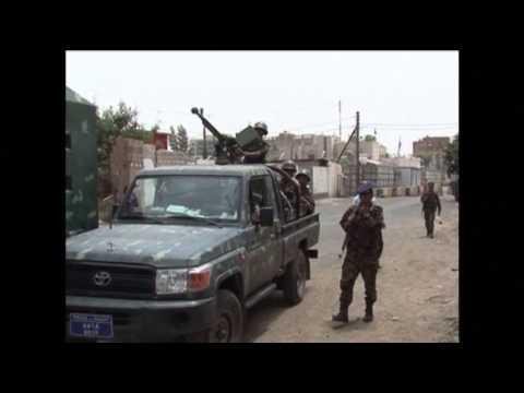 Raw: Heavy Military Surrounds Embassies in Yemen