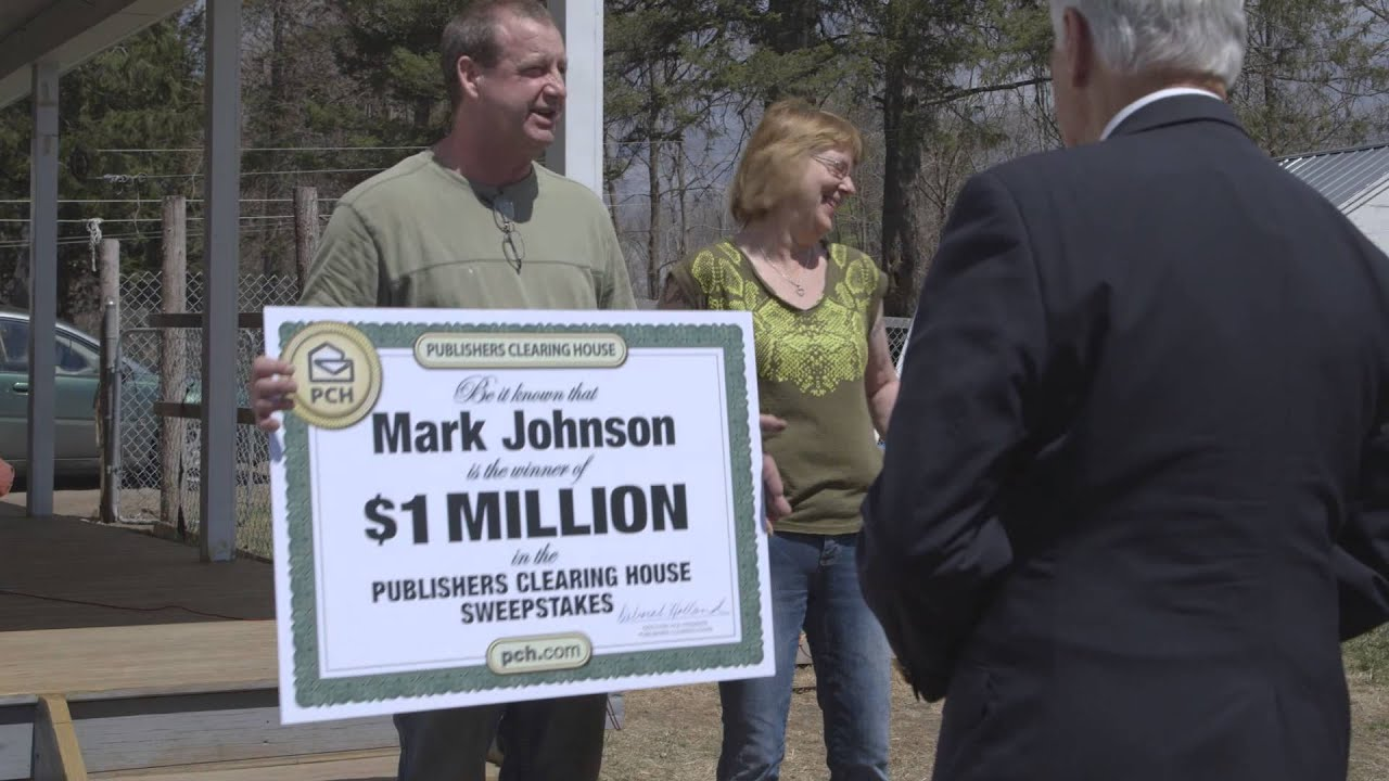 Publishers Clearing House Winners: Mark Johnson From Dolgeville, New York  Wins $1 Million