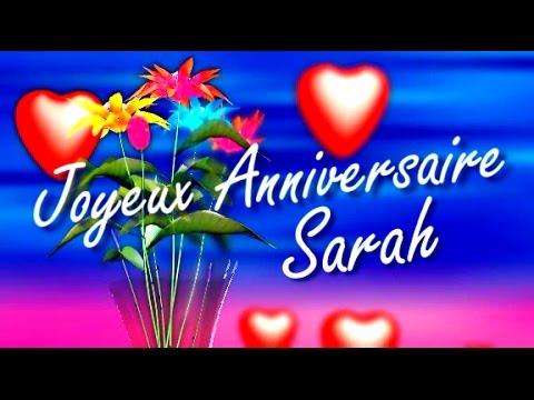 bon anniversaire sarah
