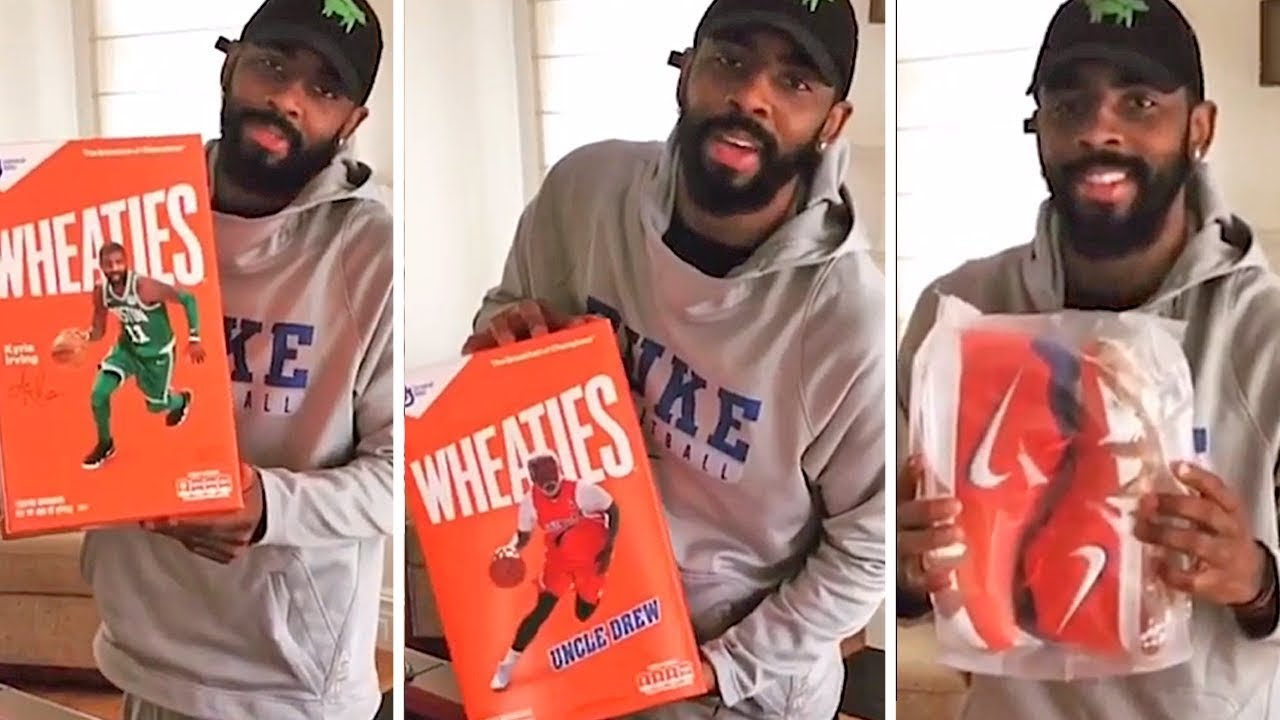a3e669e84fad Kyrie Irving Reveals Limited Edition Uncle Drew Wheaties Kicks - YouTube