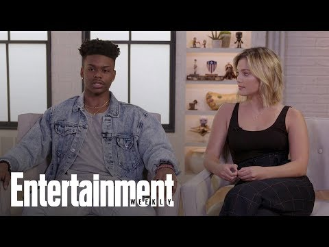 Cloak & Dagger Stars Aubrey Joseph & Olivia Holt On Meeting Chadwick Boseman | Entertainment Weekly