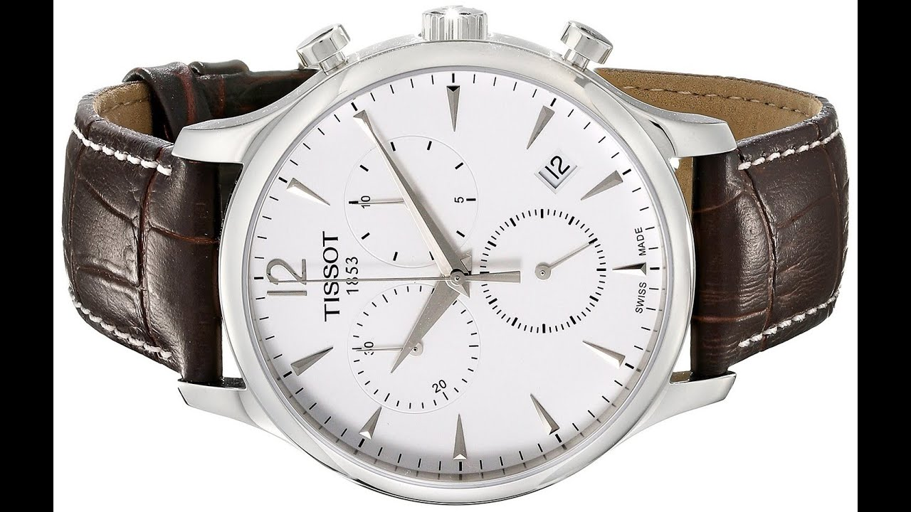 eba0ed5076f Tissot Men s T063.617.16.037.00 Stainless Steel Tradition Watch with  Textured Leather Band