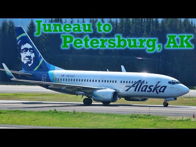 Full Flight: Alaska Airlines B737-700 Juneau to Petersburg, AK (JNU-PSG)