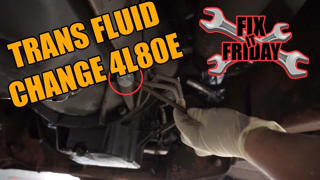 Transmission Fluid Change Chevy/GM 4L80E/4L85E Transmission
