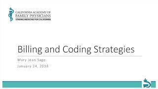 Strategies for Coding and Reimbursement: 2018 CPT Updates Webinar