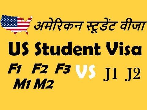 US Student Visa In Hindi [F1,F2,F3,M1,M2,J1,J2 visa]