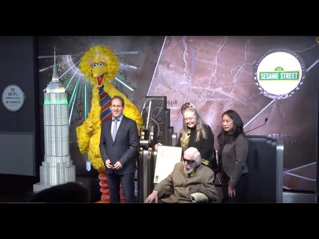Empire State Building Lights Up - Sesame Street Celebrates 50 Years - New York City