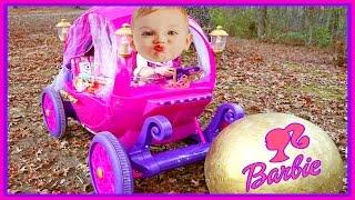 Power Wheels 24V Disney Princess Carriage Surprise Barbie Egg & American Girl Bitty Baby