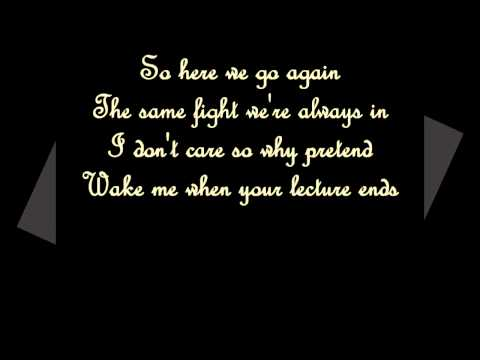 Skillet - It's not me it's you (lyrics)