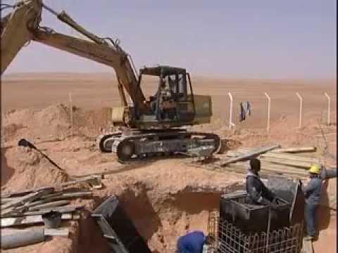 Algerie,megaprojet de lutte contre la remontée des eaux 2009.