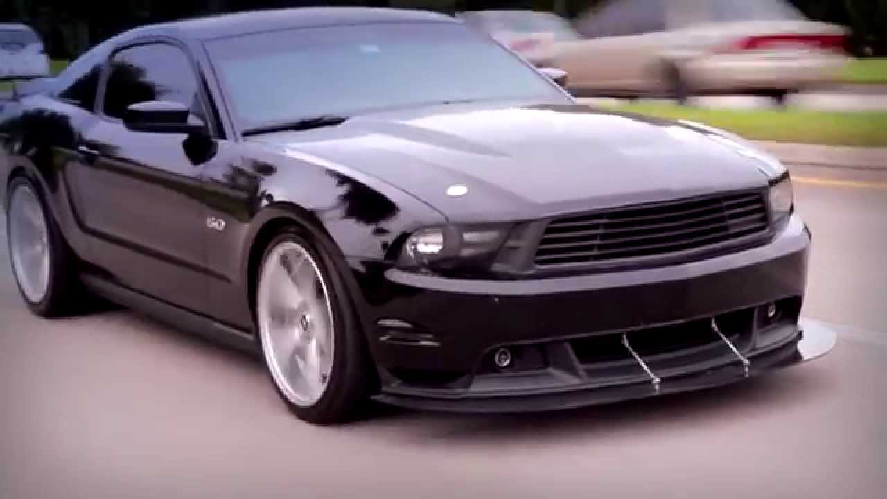 Slick Black Ford Mustang With Axe EX18 Wheels