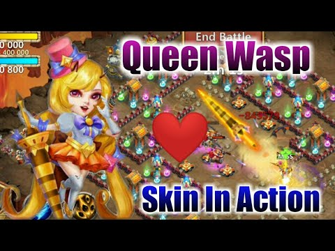 Queen Wasp | Skin In Action  | How's It...? | 10 Flame Gaurd | 9 Survival | 6 HC | Castle Clash