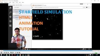 Starfield Simulation: HTML5 Canvas Javascript Animation Tutorial
