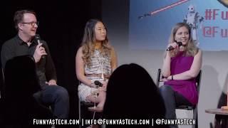 How Human Should Our AI Assistants Be?! Funny as Tech LIVE w/ Bridget Carey, Natt Garun & John Keefe