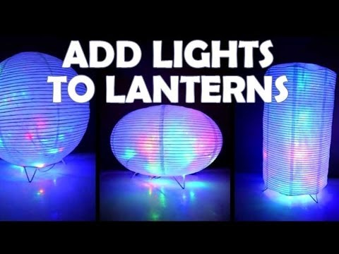 How To Add Lights Paper Lanterns