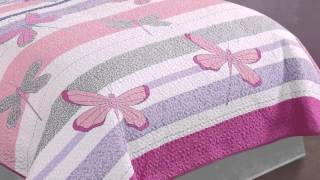 Pretty Dragonflies Girls And Teen Quilted Bedding