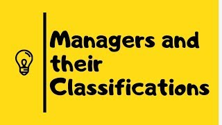 Managers and their classification in Urdu/Hindi