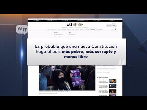 """Columna del Wall Street Journal plantea que Chile está en una """"misión suicida"""""""