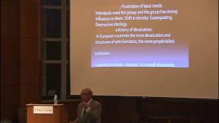Ervin Staub lectures on quot;Passivity of Bystanders in Genocidequot;