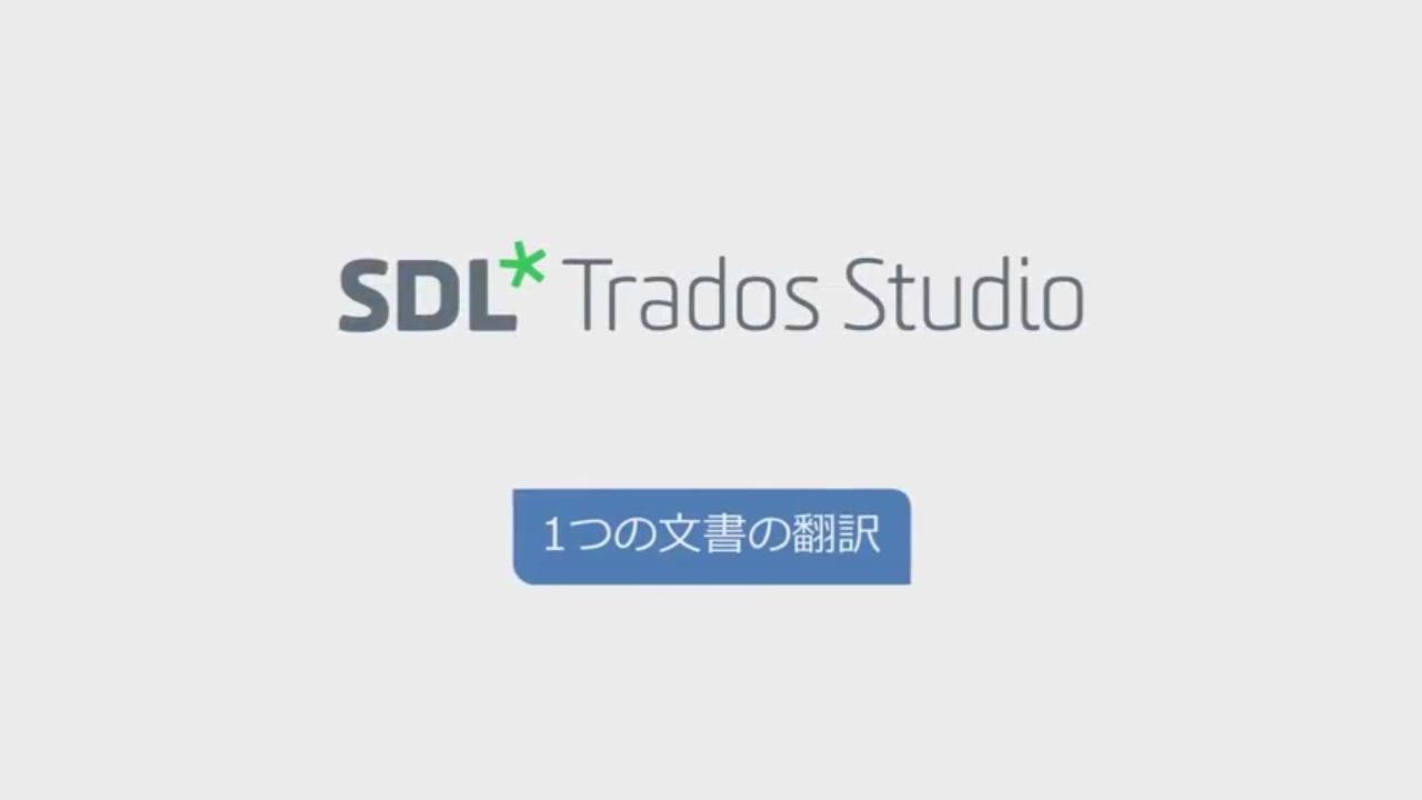 SDL Trados Studio 2017 で1つの...
