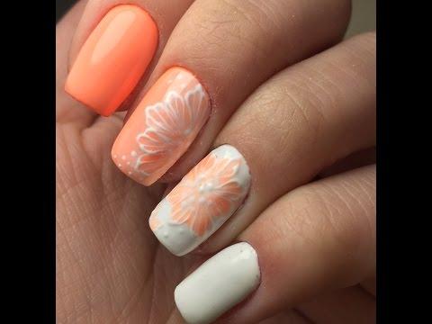 Видео Покрытие лаком ногтей в два цвета