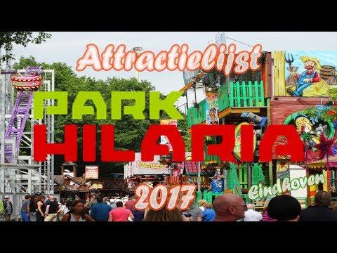 Attractielijst kermis Park Hilaria EIndhoven 2017