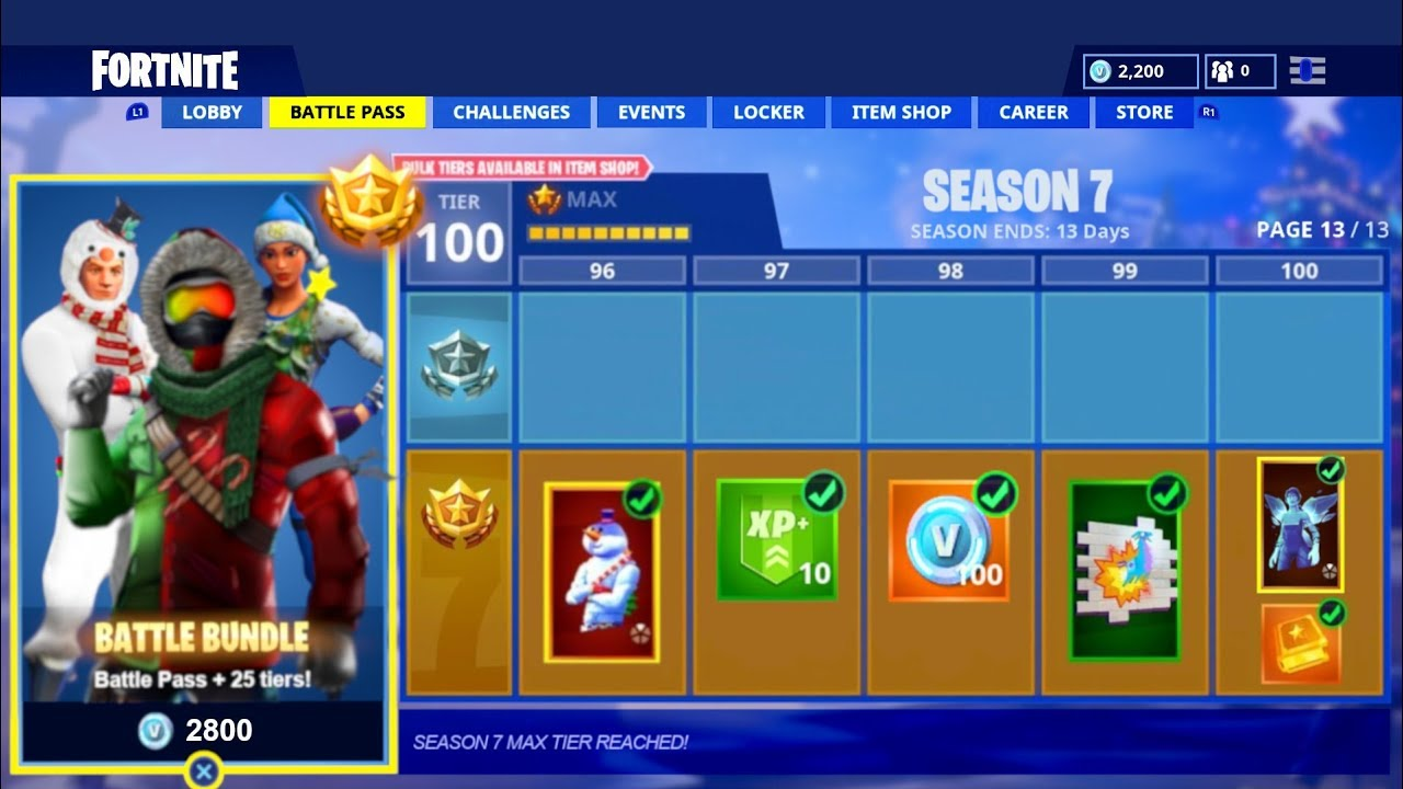 All Fortnite Season 7 Battle Pass Skins Rewards New Fortnite