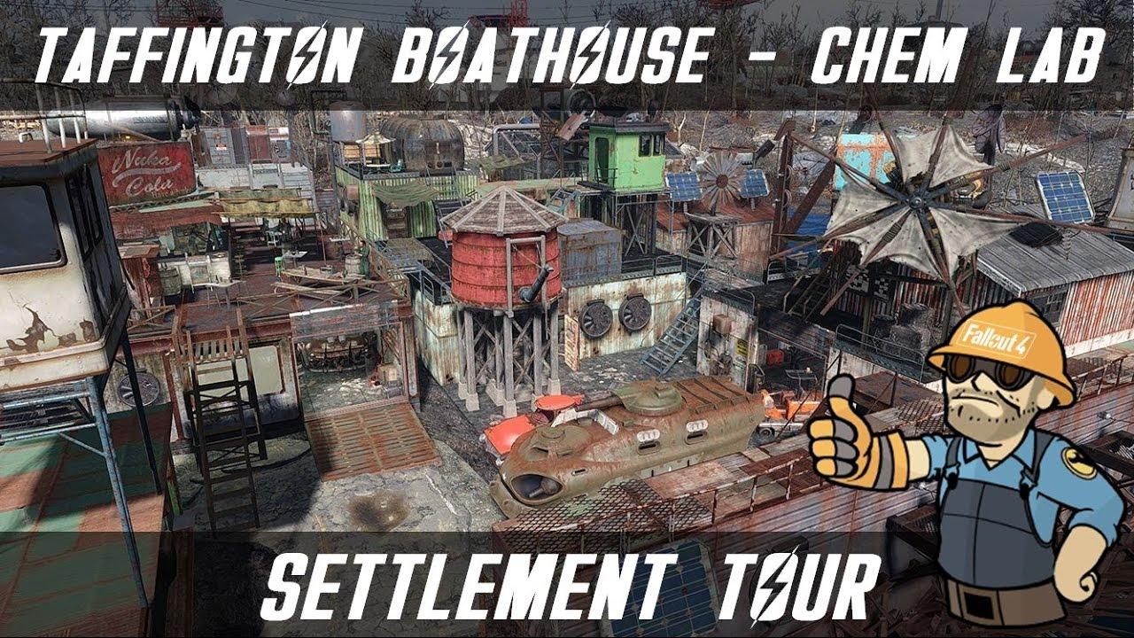 Fallout 4 Settlement Tour Taffington Boathouse Chem
