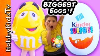Giant KINDER Eggs with Surprise Toys