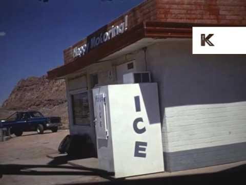 1980s Arizona Road Trip, Gas Station, US Home Movies