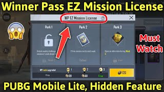 What Is Winner Pass EZ Mission License In PUBG Lite? PUBG Lite Hidden Features EZ Mission License.