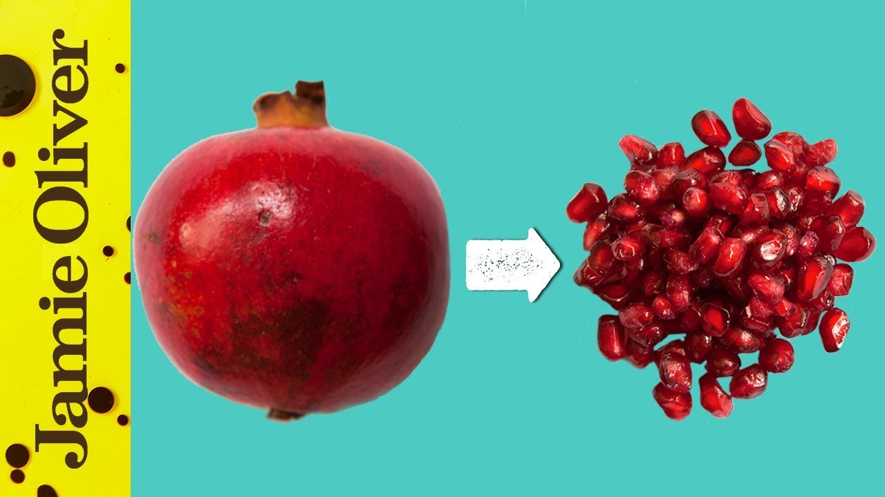 How to de seed a pomegranate jamie s 1 minute tips youtube - Deseed pomegranate less one minute video ...