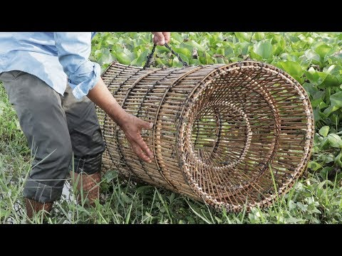 We Survival - How to make fish trap From Bamboo