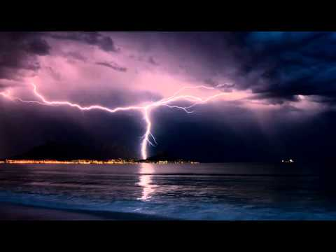 Thunderstorm and Rain Sounds over the Ocean , 10 hours [ Sleep Music ]