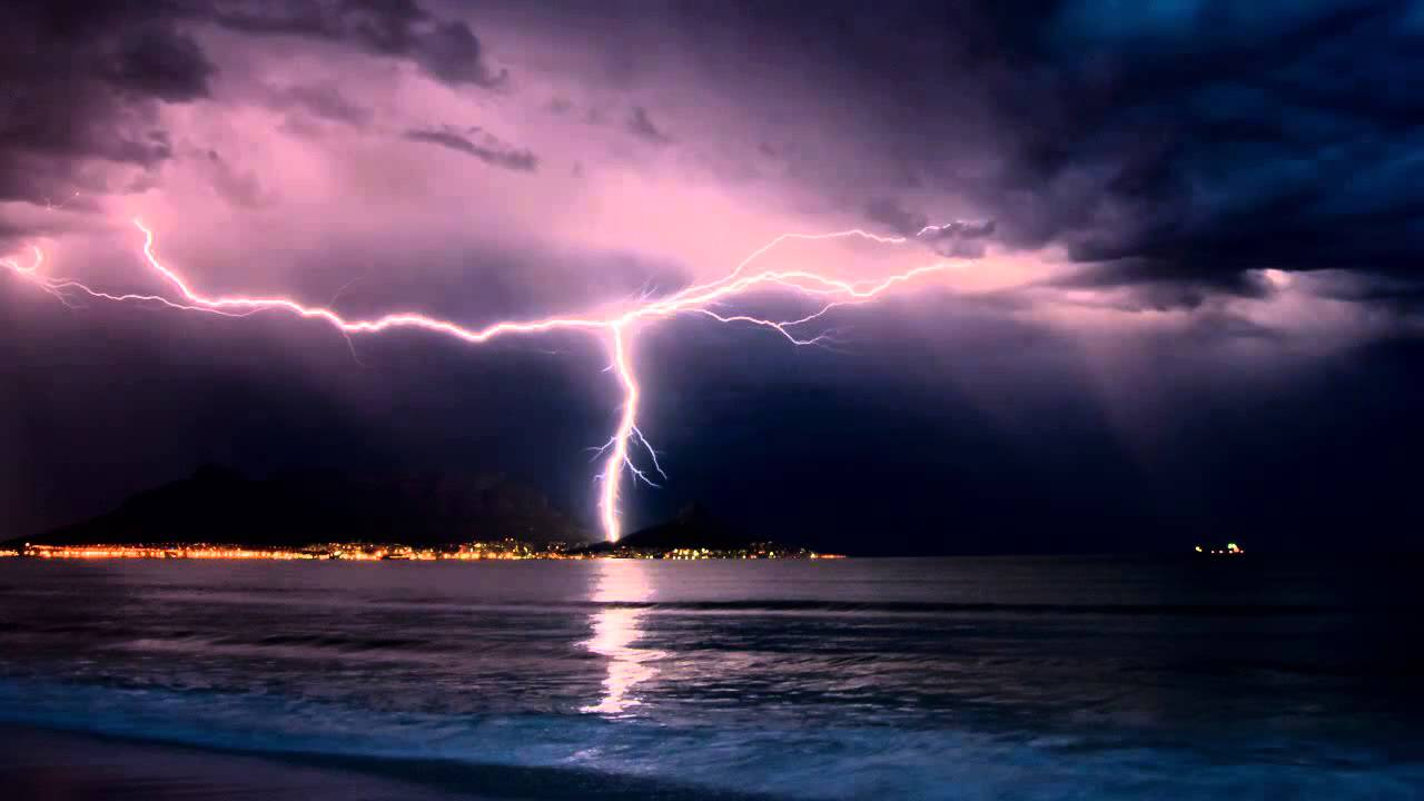 Storm City Wallpaper Hd 3d Thunderstorm And Rain Sounds Over The Ocean 10 Hours