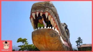 초거대 공룡 나타났어요! 공룡대탐험 쥬라기 키즈 카페 놀이 동산 ♡ 쥬라기공원 테마파크 어린이 장난감 놀이 dinosaur park | 말이야와아이들 MariAndKids