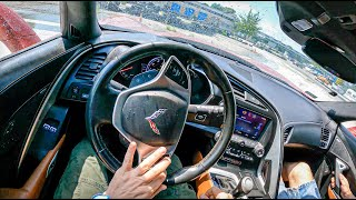 Chevrolet Corvette C7 [6.2 V8 450 HP]   POV Road to Drift King #1 Joe Black