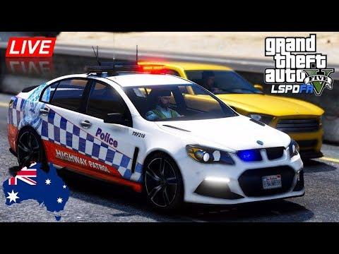 GTA 5 - LSPDFR Australia LIVE - NSW Highway Patrol HSV