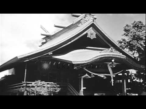 A Japanese temple, and a temple made of wood in Honolulu, Hawaii. HD Stock Footage