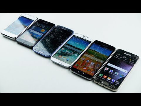 Samsung Galaxy S6 Vs S5 Vs S4 Vs S3 Vs S2 Vs S1 Drop Test!