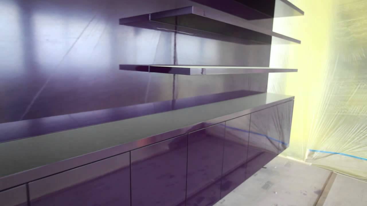 Merveilleux Painting Purple Cabinet High Gloss 206 431 3606 Shearer Painting   YouTube