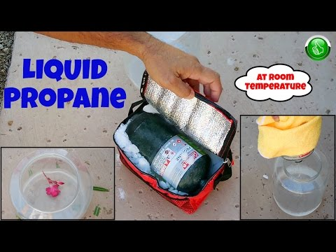 LIQUID Propane Extracted From Camping Gas Cylinder