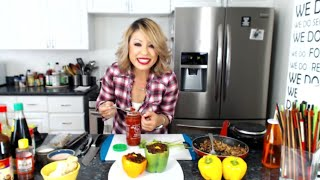 Asian Stuffed Bell Peppers with Quail Eggs  Live Cooking Show