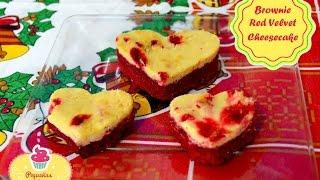 Brownie Red Velvet con Cheesecake  Recetas para Navidad  Pequeñas Delicias