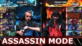 Team Ice vs Team Fire Assassins Mode   LoL All-Star Event 2016 Day 3   ICE vs FIRE