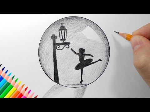 Как нарисовать СТЕКЛЯННЫЙ ШАР простым карандашом